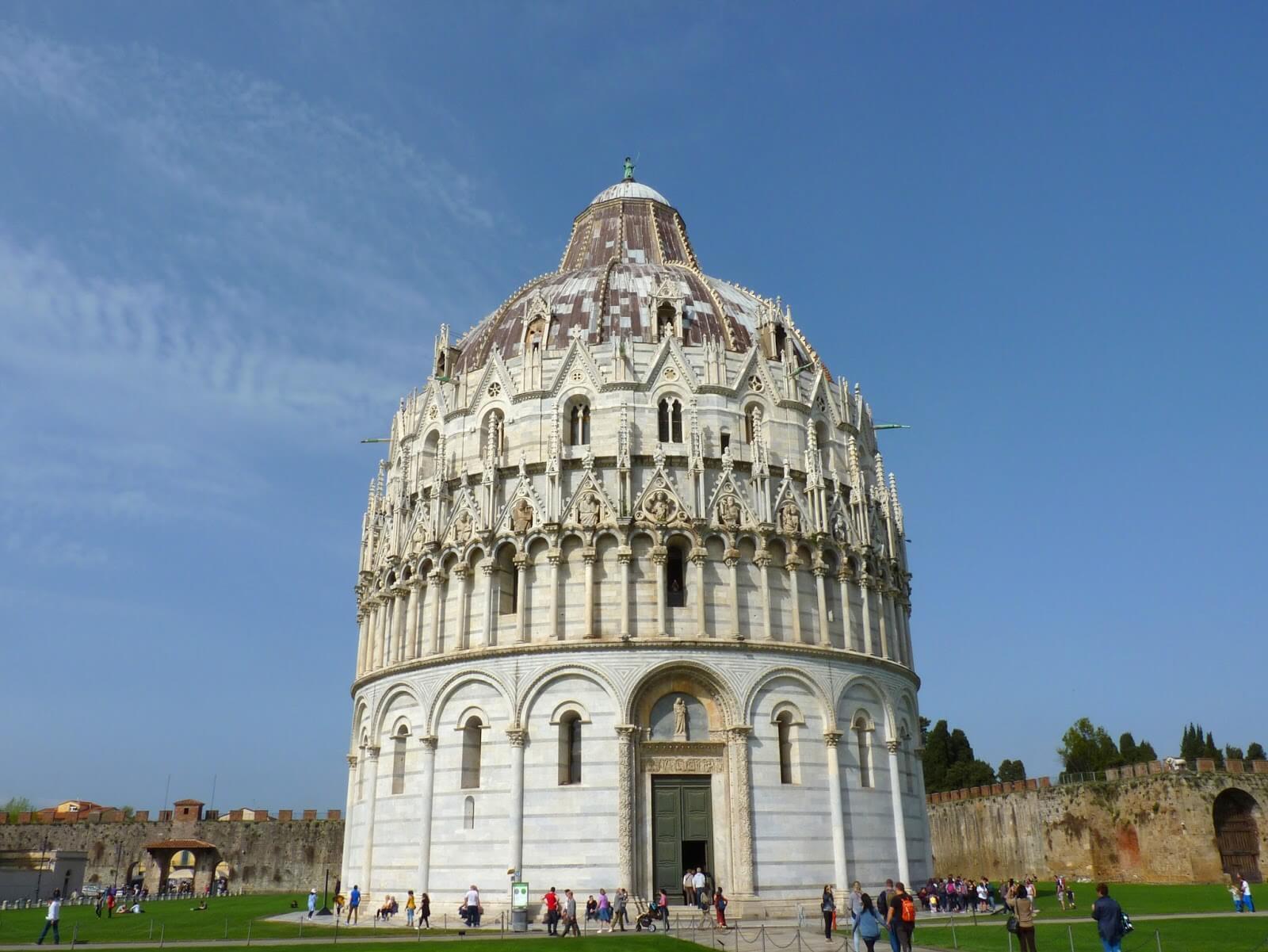 Battistero di San Giovanni Pisa Itália Mundo Indefinido