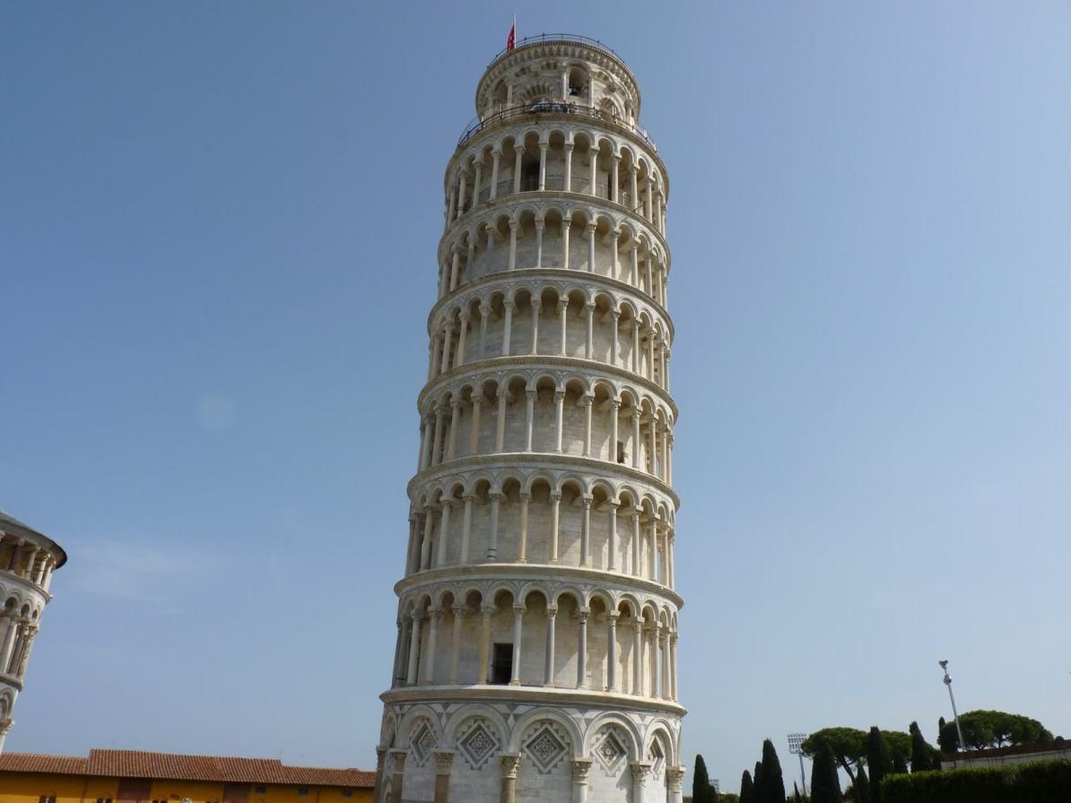 Torre di Pisa Itália Inclinada Mundo Indefinido