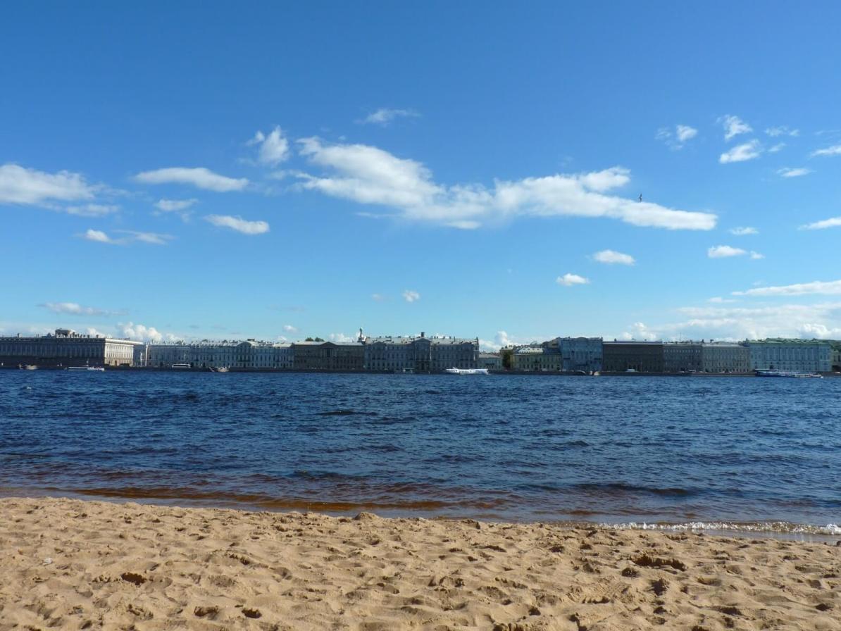 Praia Fortaleza de São Pedro e São Paulo São Petersburgo Rússia Mundo Indefinido