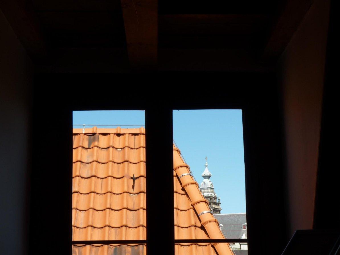 Igreja de Nosso Senhor do Sótão vista janela Amesterdão Países Baixos Mundo Indefinido