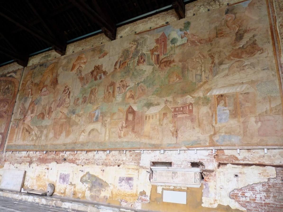 Camposanto Frescos 01 Pisa Itália Mundo Indefinido