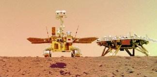 China divulga primeiros vídeos de seu rover em Marte