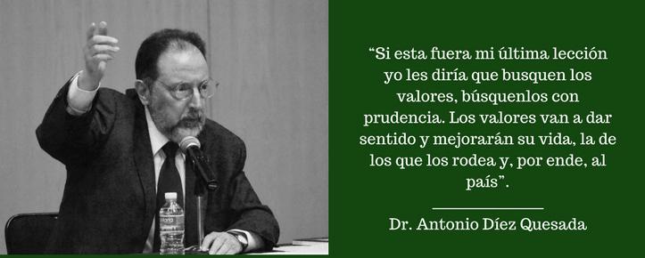 """Dr. Antonio Díez Quesada en su conferencia """"La última lección"""". FOTO: ITAM"""