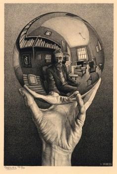 Autorretrato con espejo esférico, M.C.Escher, 1935