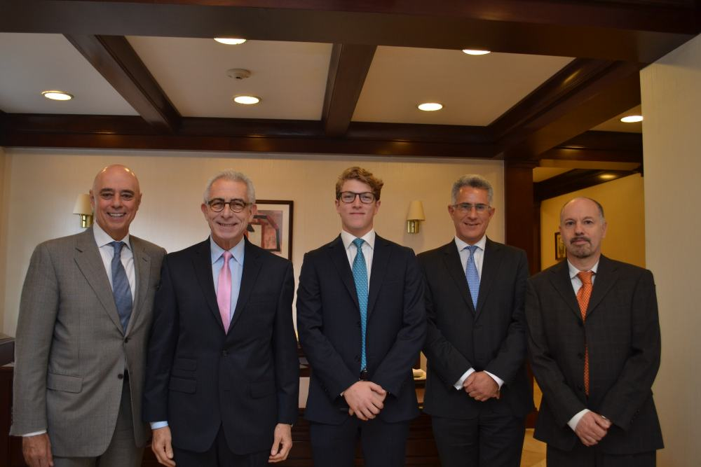 Dr. Arturo Fernández, Dr. Ernesto Zedillo, Ricardo Penchyna , Dr. Alejandro Hernández, Dr. Stéphan Sberro. FOTO: ITAM