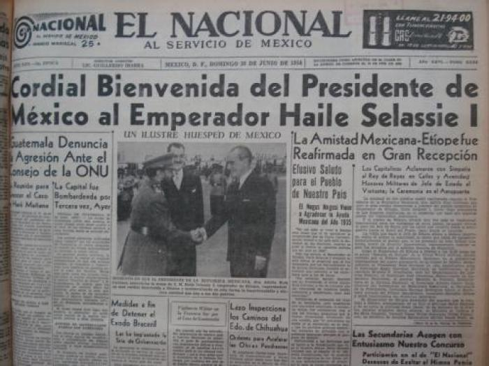 México y África en la portada del Nacional