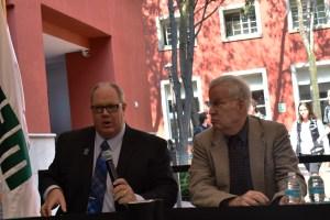 El Dr. Dennis Plane habla sobre los posibles eventos que sucederán durante las elecciones presidenciales. FOTO: ITAM