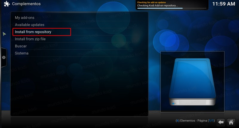 tv time en kodi. 11 install from repository