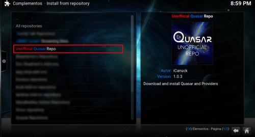 quasar en kodi. 11 quasar repo