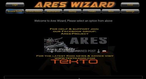 Ares Wizard en Kodi. 6. Prueba