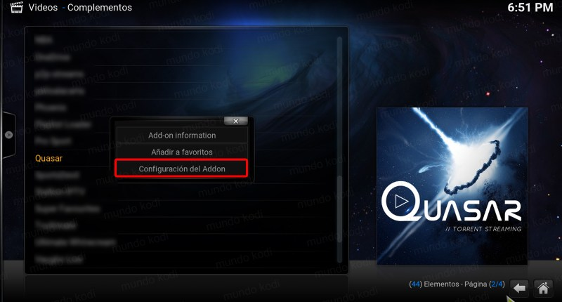 3 addon settings