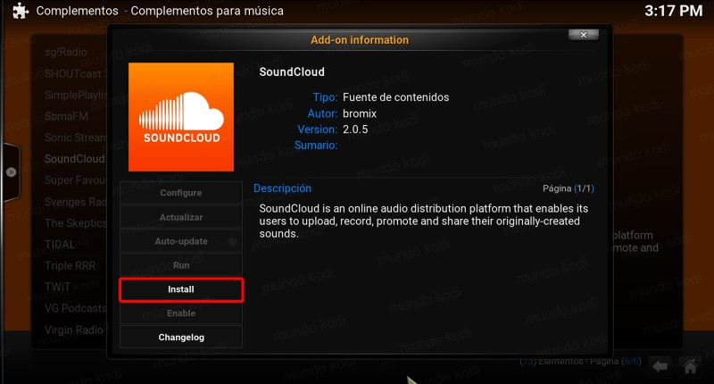 4 install soundcloud