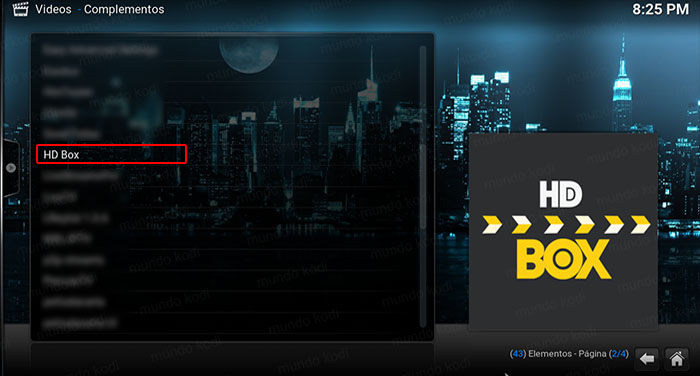 addon hd box en kodi HD Box
