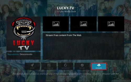 addon lucky tv en kodi