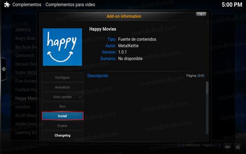 addon happy movies en kodi