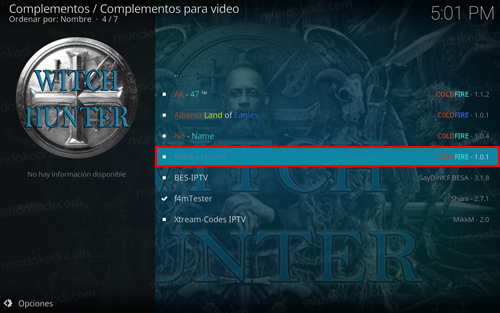 addon witch hunter en kodi