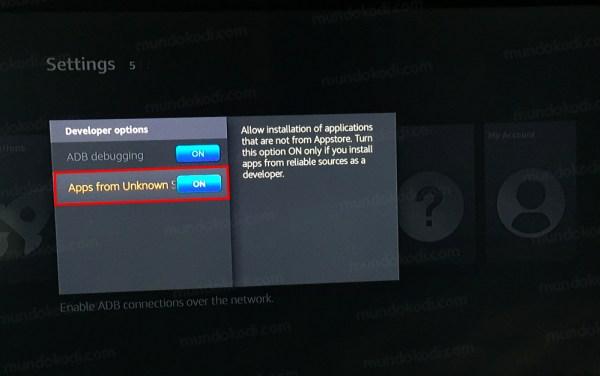 Kodi en Fire TV Stick con Downloader