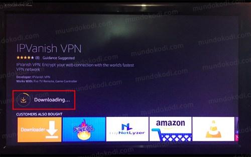 IPVanish VPN en Fire TV