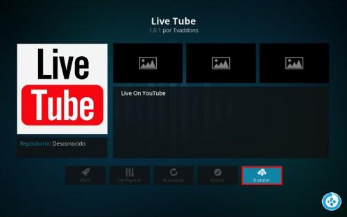addon live tube en kodi