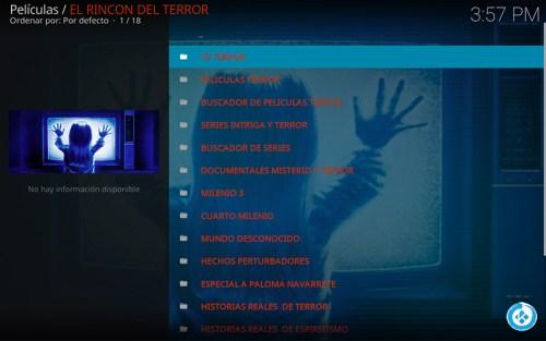 addon el rincón del terror en kodi