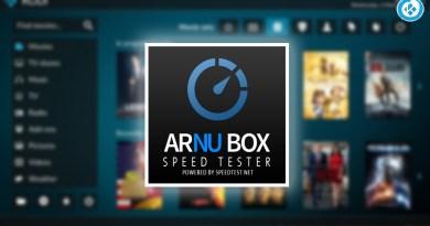 addon arnu box speed tester en kodi