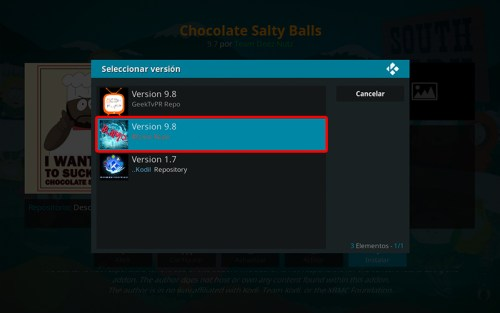 addon chocolate salty balls en kodi