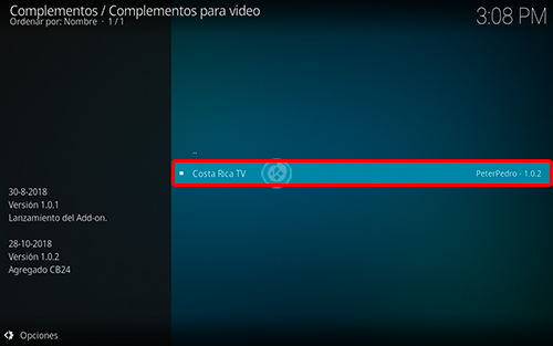 addon costa rica tv en kodi