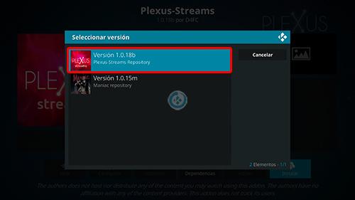 addon plexus streams en kodi