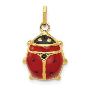 Abalorio de Mariquita Esmaltado en Oro Amarillo - mundomariquita.com