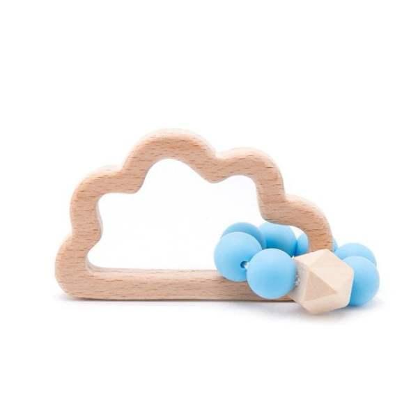Mordedor infantil nuvem madeira
