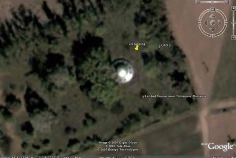 Coordenadas para Google Earth de extrañas figuras