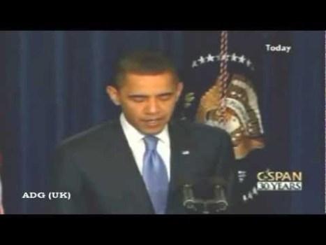 """Obama durante su visita a Roswell """"Vamos a guardar nuestros secretos aquí"""", 22 de marzo 2012"""