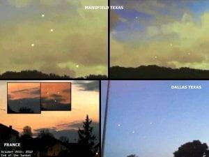 Masivos avistamientos OVNI sobre Dallas, Texas, Reino Unido, Mansfield y sobre Francia en 20 de octubre 2012