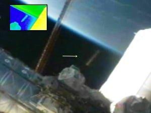 OVNI con forma de cigarro en la ISS y la NASA corta la transmisión – 16 de diciembre 2012
