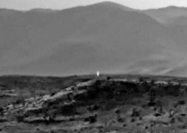 Fuente de luz no identificada en Marte