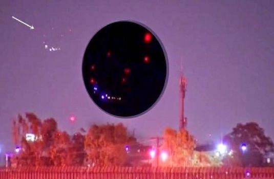 Extrañas luces grabadas en vídeo sobre San Diego