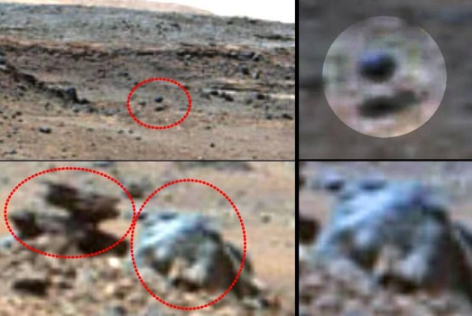 ¿Extraña Criatura y esfera levitando en Marte?