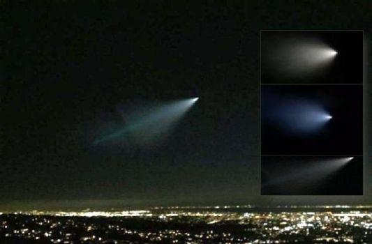Misteriosa luz brillante vista en California y Nevada