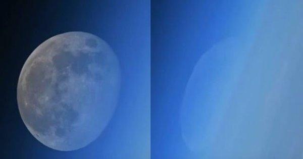 Raras imágenes de la luna desapareciendo filmadas desde la ISS