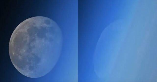 Imágenes raras de luna desaparecida filmadas desde la Estación Espacial Internacional
