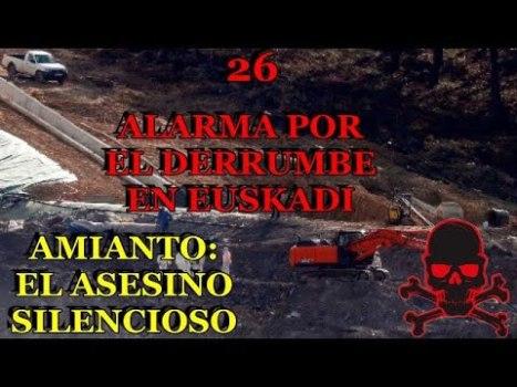 26 Amianto, peligro mortal: Alarma en Euskadi por el derrumbe de un vertedero