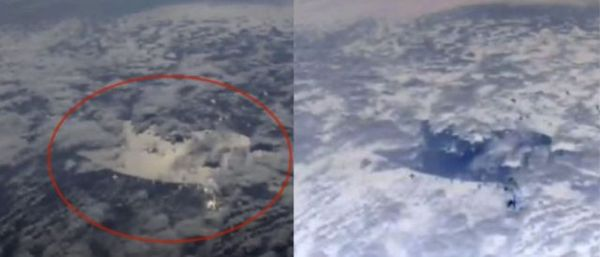 ISS Live Cam capturó algo misterioso en el cielo