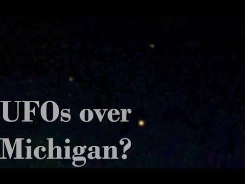 Ovnis formando forma triangular sobre Michigan 19-abr-2020