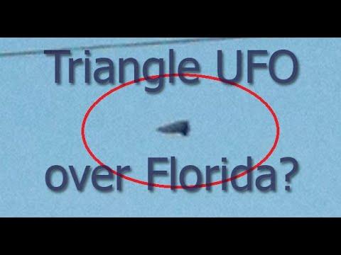 Triángulo negro fotografiado sobre Kissimmee, Florida (abril, 2019)