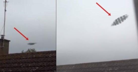 Misterioso ovni filmado durante una tormenta eléctrica en Cambridge, Reino Unido (13 de agosto de 2020)