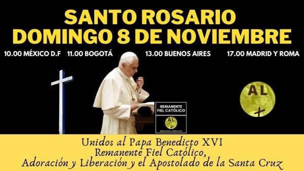 DOMINGO 8 NOVIEMBRE. EN DIRECTO. SANTO ROSARIO REMANENTE FIEL. RESPONDEMOS A LLAMADA DE MONS.VIGANÒ