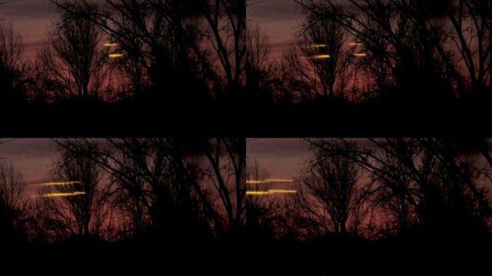 Extraños rayos de luz en el cielo registrados en Canadá