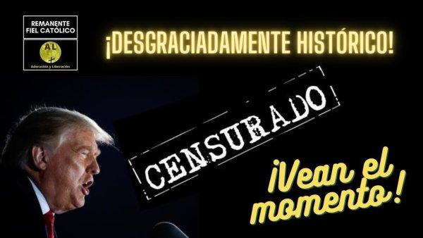 🔕  HISTÓRICO! Twitter y 3 grandes cadenas de TV censuran a Trump por denunciar fraude electoral  🔕