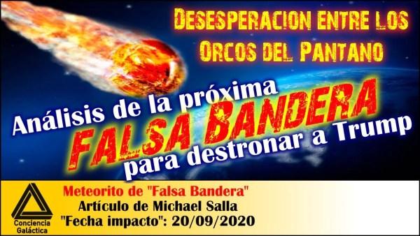 """Las Hordas del Pantano desesperadas por parar a Trump: Michael Salla, meteorito de """"falsa bandera"""""""