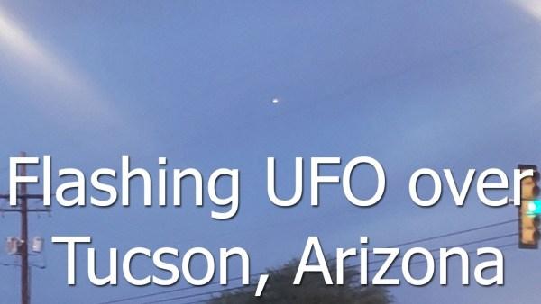 OVNI intermitente filmado en Tucson, Arizona, 24 de octubre de 2020